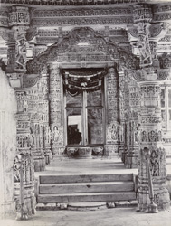 [Interior of a Jain temple at Dilwara, Abu.] 17447